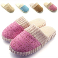 Wholesale Fashion New Home indoor Anti Slip Slippers Men Women Furry Cotton Sandals Shoes DH04