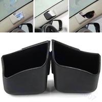 Cheap Free Shipping 2pcs Car Auto Truck Pillar Pocket Holder Storage Box Cigarette Cellphone Glasses BK -PY-PY