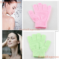 Wholesale 20x New Bath Shower Scrub Exfoliating Gloves To Eliminate Dead Skin Cells Restore Sponge Mitt Massage Spa
