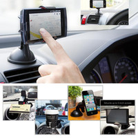 Wholesale New Universal Windshield Car Mount Bracket Holder Cupule Black for iPhone S C Sumsang Smart Phone PDS GPS Camera Recoder