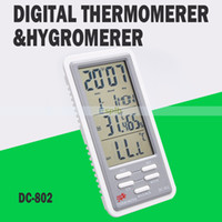 Wholesale Digital LCD Thermometer Hygrometer Temperature Gauge Humidity Meter DC