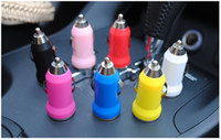 Wholesale Dual USB Ports Trumpet buglet Mini Universal Dual USB Car Charger V A for Samsung S5 S4 S3 Note Tablet PC HTC Blackberry Z10
