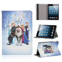 Folding Folio Case air bag movie - 2014 New arrival Cartoon Movie Cover With Stand Holder PU Leather Case for ipad mini ipad air with opp bag