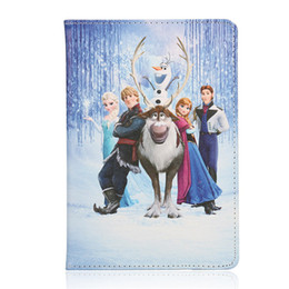 Wholesale Frozen ipad2 mini air case Cartoon Movie For iPad Air iPad iPad mini PU Leather Case Stand Case elsa anna olaf sven cover case