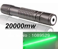 Cheap Wholesale-Burn Match Professional Powerful 20000MW Focusable burning Green Laser Pointer Pen lazer pointer 10000m With Charger