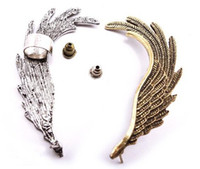 Wholesale Best price New European Style Punk Gold Silver Plated metal Wing Left Ear Stud Ear Cuff