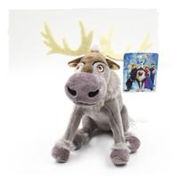achat en gros de noël farcies reindeers animales-EN SOLDES! Frozen Sven jouets en peluche Cartoon film Reindeer Peluches jouets poupées belle meilleur cadeau de Noël de l'enfant = 20cm 8inches