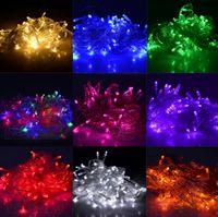 Wholesale Discount Promotion Christmas LED String Light colors M LED Xmas Led Christmas Wedding Party Decoration Lights V V