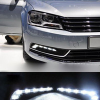 6 LED fog - New LED Super White L Type CAR Driving Lamp Fog V DRL Daytime Running Car Auto Light Universal