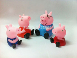 Wholesale 100PCS Peppa Pig Family Toys Set Plastic Pepa George Pig Toys Doll Baby Kid NEW Toy HL