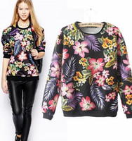 Wholesale 2014 European Brand Pullover Country style print Women Cotton Coat Sweater O Neck All match Spring Fall Winter CL2010