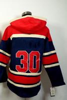 #30 Henrik Lundqvist Navy Blue Pullover 2014 Hockey Jersey H...