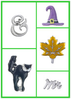 Wholesale Ffee shipping Origami owl charms mixed Floating Charm for Floating Charm Locket