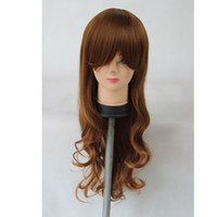 Cheap 65cm Heat Resistance Blonde Culy Long Synthetic Hair Cosplay Party Wig,free shipping