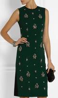 beaded works - Brand Fashion Beaded Women Dress Elegant Sheath WORK Dresses