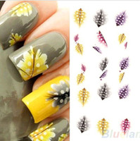 water nail decals - Fashion Creative Feather D Nail Art Water Decal Sticker Fashion Tips Decoratio DH04