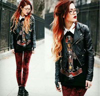 Cheap Fall 2014 new women's clothing Double lapel chic punk cultivate one's morality is contracted small leather