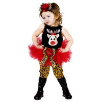 Cheap Christmas Baby Suits Girls' Clothes tutu dresses Headbands T-shirts Tights Leggings pant Tees Trousers Children's Outfits Sets A4850