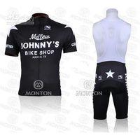 Cheap Johnny's Bike Shop Cycling Jerseys Anti Bacterial High Quality Cycling Jersey Set Cheap Fall Cycling Suit(Jersey + Padded Shorts)