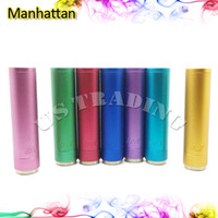 aluminium electrode - Multicolor Manhattan Mod Clone Hottest USA e Cigarette Mod Thread Manhattan Machanical Mods Aluminium Alloy Mods Copper Electrode