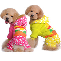 Wholesale New Arrive Lovely Four Legs Pet Dogs Winter Coat Warm pet Clothing Dog Clothes Yellow pink CWY18
