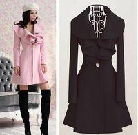 Cheap 2014 Autumn and winter Women clothes new European and American woolen Coats flounced woolen Outwear MY9-7