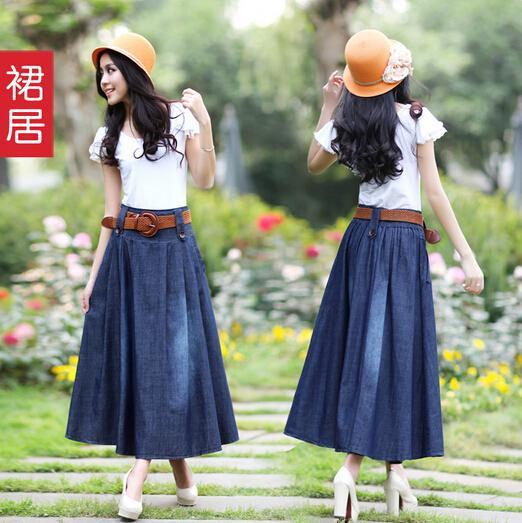 Denim Maxi Skirts Online
