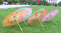bamboo papers - Fashion Hot Chinese style silk wedding umbrella color vintage umbrella dance umbrella bamboo cytoskeleton