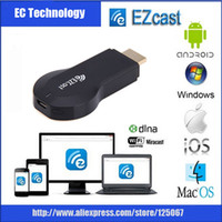 Wholesale EZCast wireless display receiver better than google chromecast support office file airplay miracast ipush