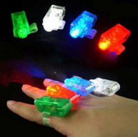 Lampe à LED Finger Ring Lights Glow Laser Finger Beams Party Flash Kid Toys 4 couleurs Cadeau de Noël