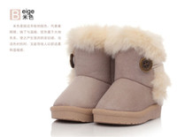child boots - 2014 New Children Snow Boots Thicken Winter Children Shoes For baby Kids child snow boots colour Children s warm boots hot sale