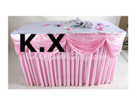 Wholesale Ice Silk Table Skirt CM M With Swag