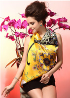 Wholesale Ladies scarves animal print The new mulberry silk square silk shawl scarves brand silk scarf cm butterfly Golden
