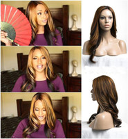 Cheap DHL Free Shipping Remy Human Hair Two Tones Color Ombre Color Brazilian Full Lace Wigs