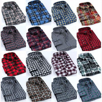 Wholesale hOT Flannel Men Shirts New Non Iron Luxury Slim Fit Long Sleeve Brand Formal Business Fashion Dress Plaid Shirts F0091