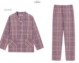Wholesale Dreams fall pajamas The new grid leisure couple pajamas Men s and women s cotton long sleeve household to take meal