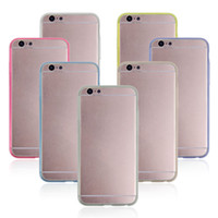 Thin Dual Colors Clear Crystal Soft TPU Hard Case Cover For ...
