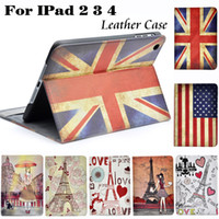 apple ipad case eiffel - For Ipad Girl Paris Eiffel Tower US UK Flag Leather Smart Stand Holder Cover For apple new ipad ipad Protective Case