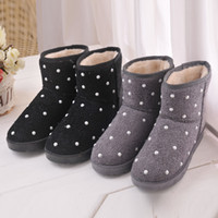 Wholesale ZCZ Hot Specials Dot Jewelry boots new fashion women winter snow woman sexy motorcycle ankle boot with flat shoes