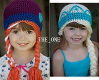 Girl baby girl hats - crochet frozen hats kids girls baby handmade hat crochet knitting ELSA ANNA cap frozen winter hat in girls beanie hand knitted hat