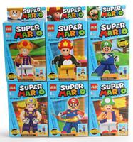 Wholesale Super Mario Bros Luigi Mario Figures Classic Toys Building Blocks DIY Bricks Toys Figures C001