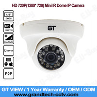 Wholesale GT VIEW HD MP1280 P Indoor ONVIF P2P Plug and Play H IR Night Vision Mini CCTV Dome IP Camera GT
