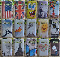 Wholesale 15 style cat tower flag butterfly flower painting Hard PC cover Case For Alcatel One Touch POP C5 OT5036D case