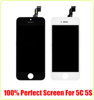 Wholesale Promotion Grade AAA NO DEAD PIXEL Perfect for iPhone s c SE LCD Display Touch Screen Digitizer with Frame Free DHL Grade A