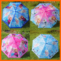 Wholesale Frozen Umbrella Frozen Princess Elsa Anna Olaf Rain and Sun Proof Children Umbrella cm Frozen Series DHL