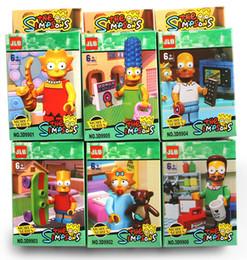 Wholesale Bart Simpson Building Blocks Toy Figures Classic Toys Building Blocks DIY Bricks Toys Figures C001