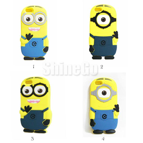 Buy 2014 Despicable 2 3D cases Cute Cartoon Minions Silicone Case Cover iphone 6 6G 4.7