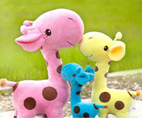 giraffe gifts - Kawaii Gifts Stuffed Plush Giraffe Animals Deer Kids Toys Giraffe Plush Happy Family cm quot b11 SV001401