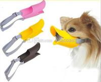 Wholesale 250pcs pet duck Silicone mouth wildanmial trap dog training equipment duckbilled dog muzzle anti bite mask Pet