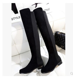 Genuine Leather Flat Long Boots Online | Genuine Leather Flat Long ...